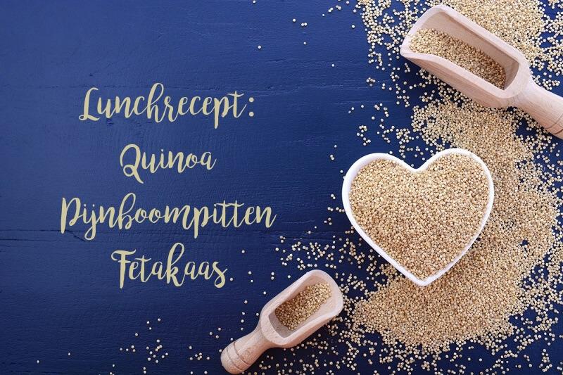 recept van koolhydraatarme quinoa pijnboompitten en feta kaas