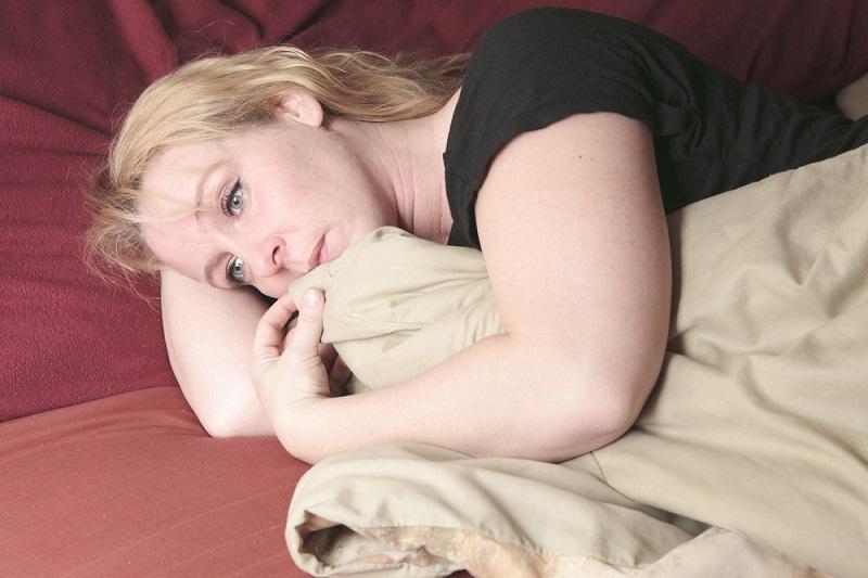 vrouw met een burnout en depressie